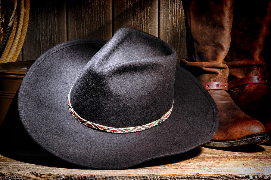 American Photograph - Cowboy Hat by Olivier Le Queinec