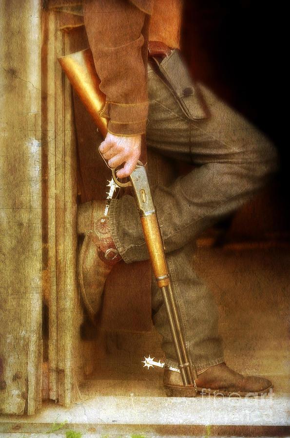 Cowboy Boots Photograph - Cowboy With Guns  by Jill Battaglia