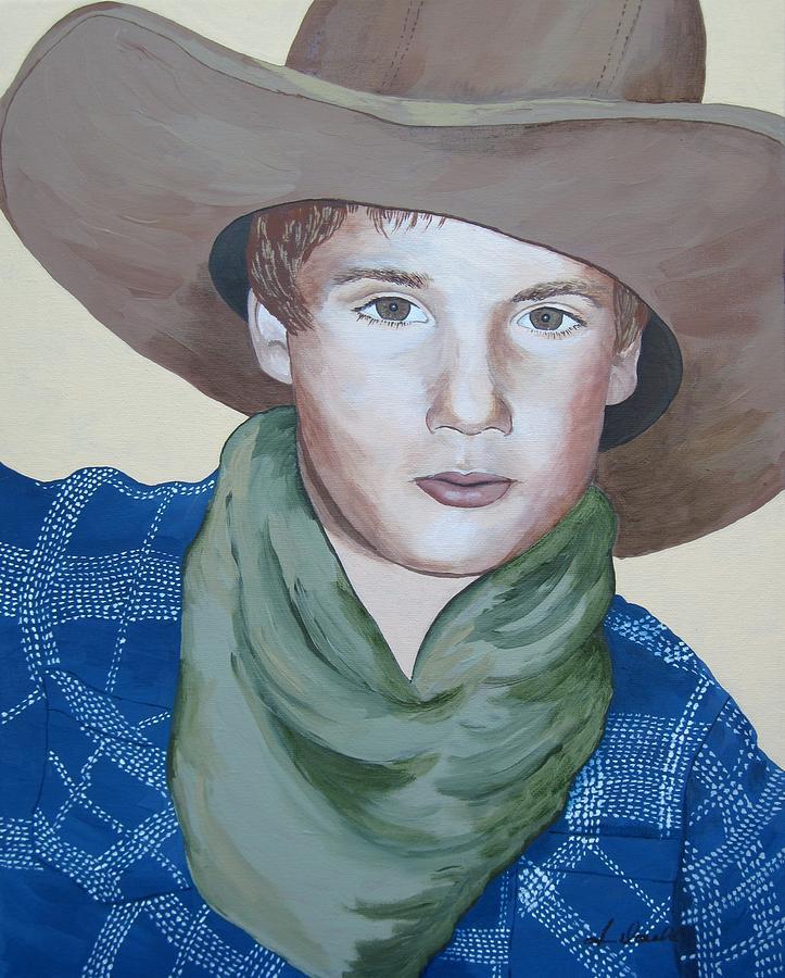 Figurative Painting - Cowboys by Jennifer  Donald