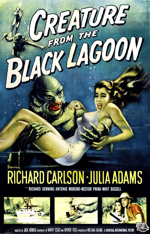 1954 Movies Photograph - Creature From The Black Lagoon by Everett
