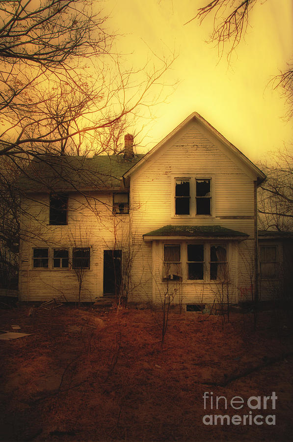 House Photograph - Creepy Abandoned House by Jill Battaglia