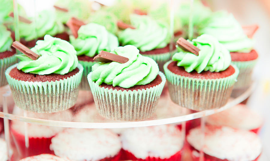 Bake Photograph - Cup Cakes by Tom Gowanlock