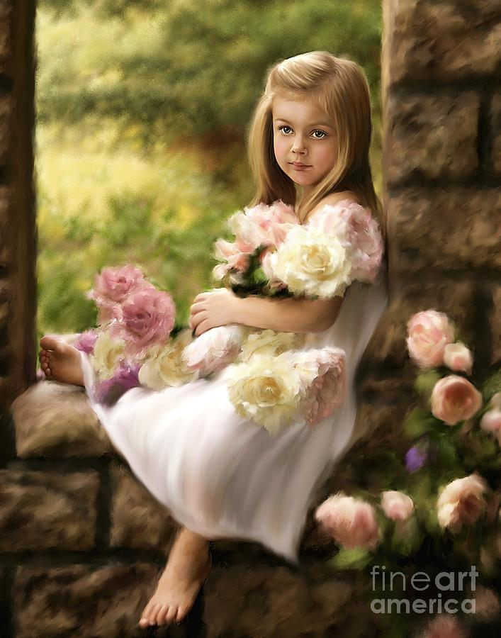 Child Mixed Media - Custom Portrait03 by Dawn Serkin