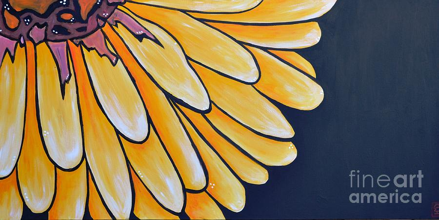 Yellow Flower Painting - Dahlia by Holly Donohoe