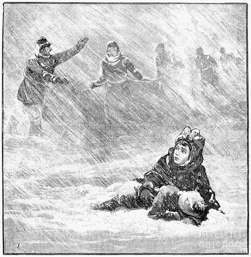 1888 Photograph - Dakota Blizzard, 1888 by Granger