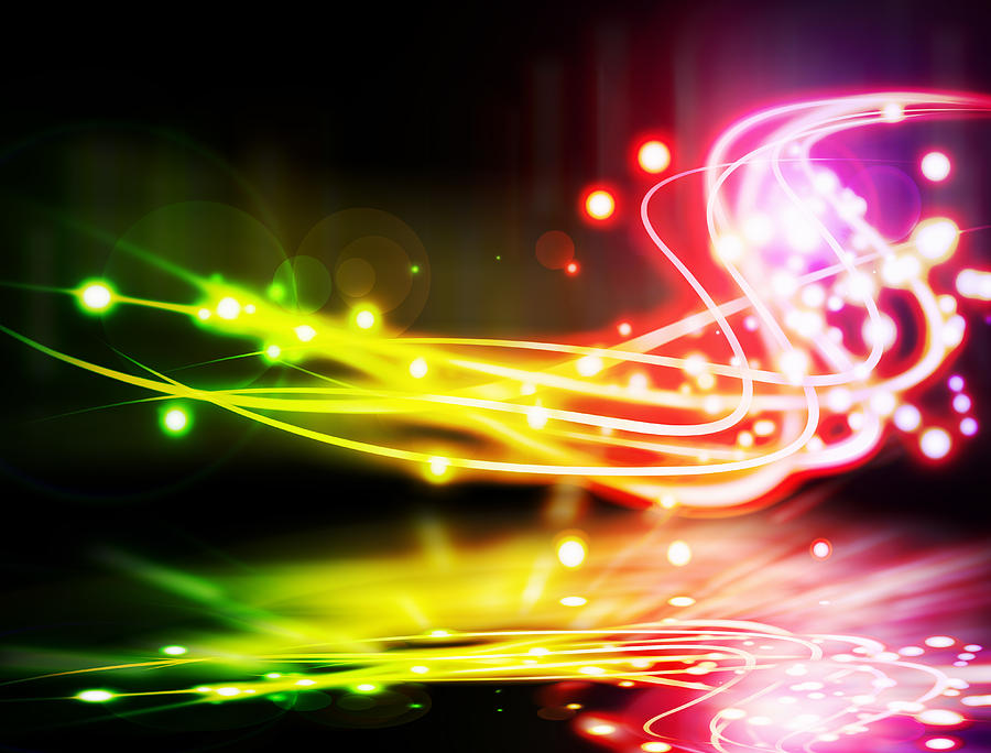 Abstract Photograph - Dancing Lights by Setsiri Silapasuwanchai