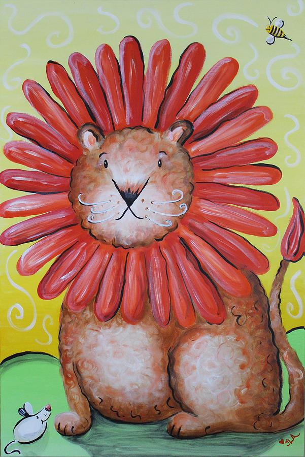 Lion Painting - Dandy Lion by Jennifer Alvarez