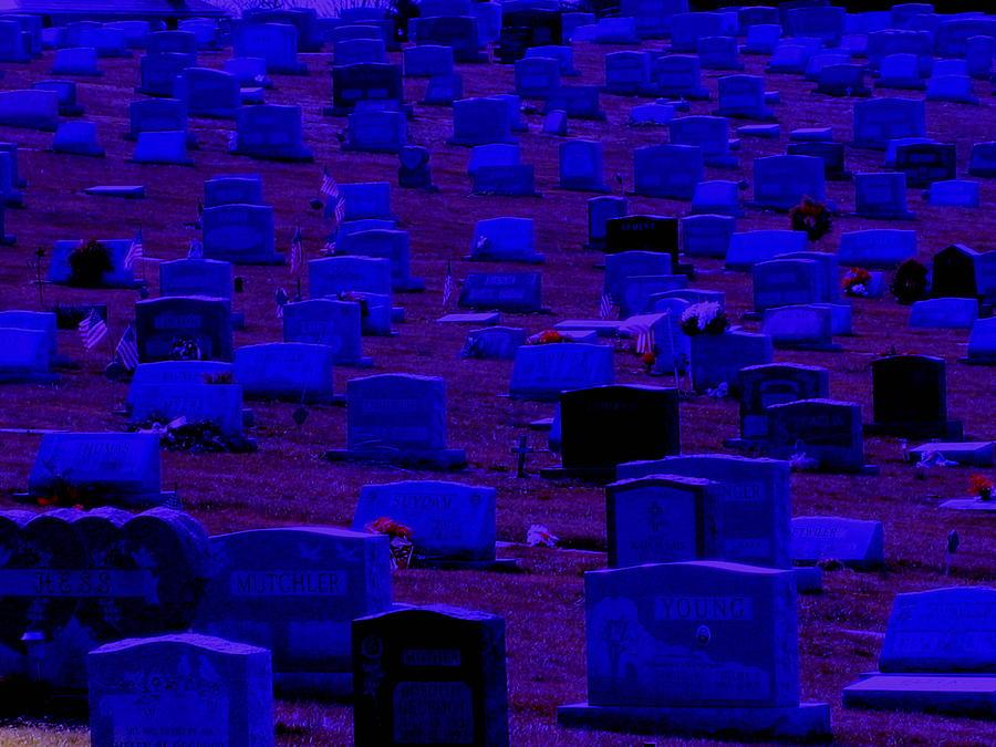 Dark Photograph - Dark Cemetery by Jose Lopez