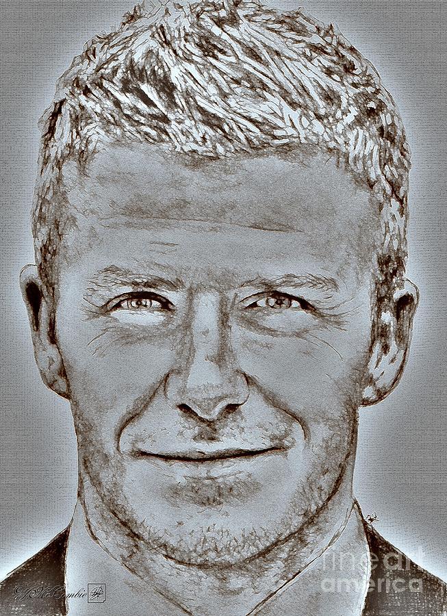 David Beckham Digital Art - David Beckham In 2009 by J McCombie