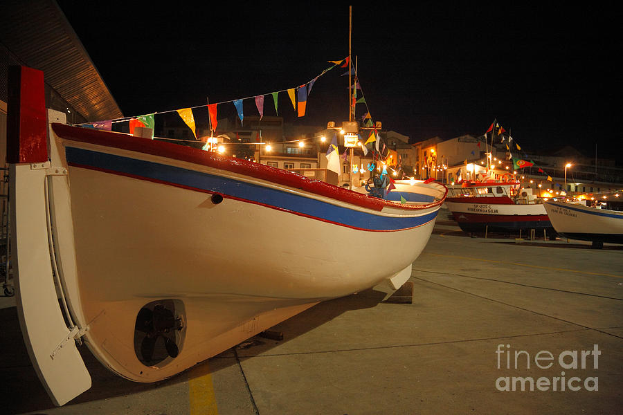 Portugal Photograph - Decorated Fishing Boats by Gaspar Avila