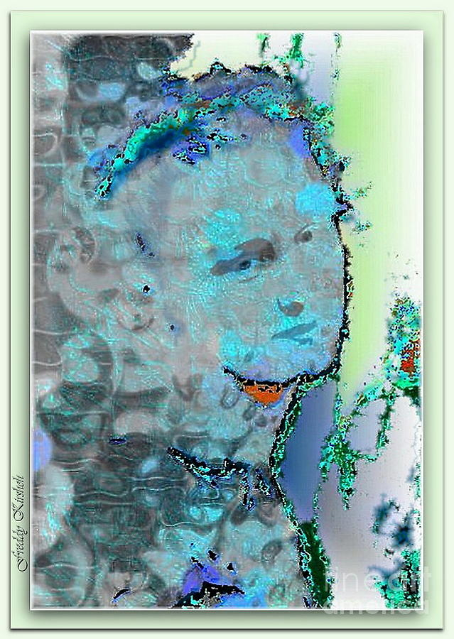 Portrait Mixed Media - Delicateness by Freddy Kirsheh