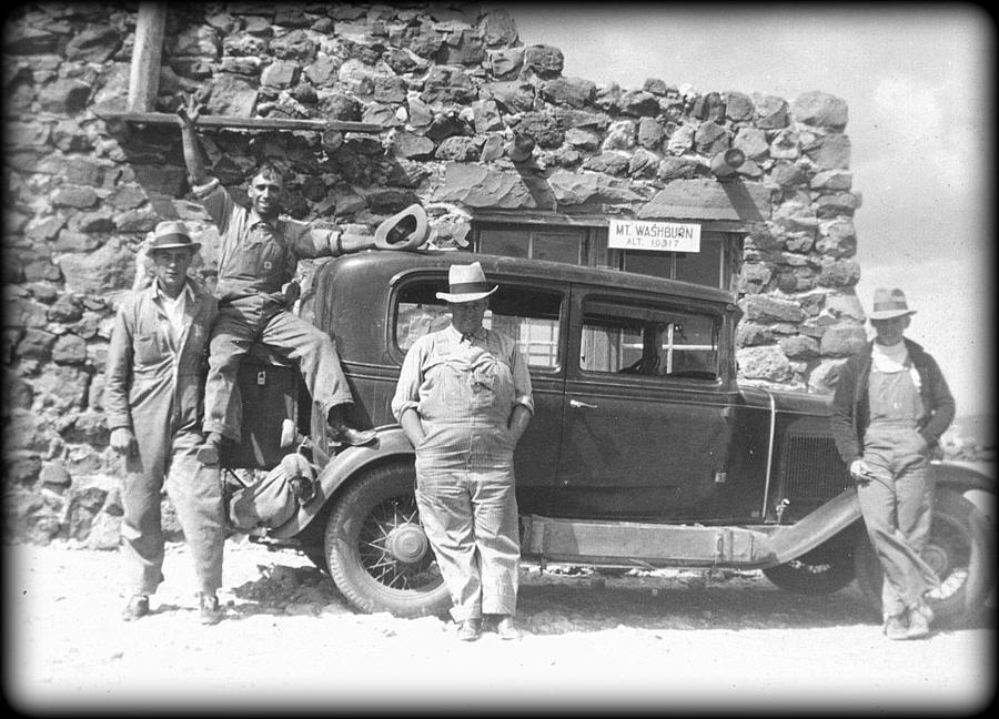Mt Washburn Photograph - Depression Travlers by Bonfire Photography