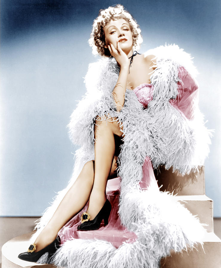 1930s Movies Photograph - Destry Rides Again, Marlene Dietrich by Everett