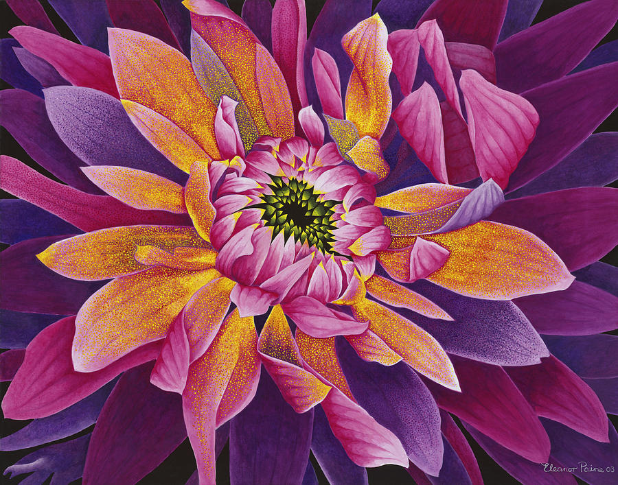 Flower Painting - Dhalia by Eleanor Paine