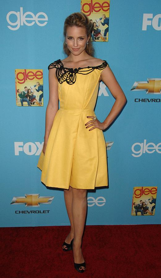 Dianna Agron Photograph - Dianna Agron Wearing A Carolina Herrera by Everett