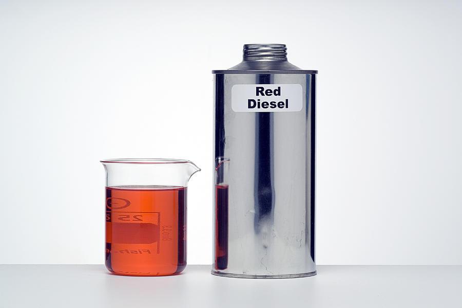 Diesel Dyed Red