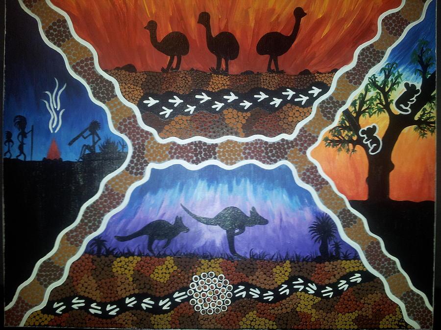 Different Scenes Painting by Karlie Stewart