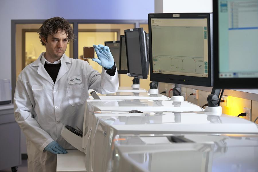 Computer Photograph - Dna Sequencers by Volker Steger