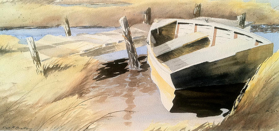 Boat Painting - Docs Old Rowboat by Don F  Bradford