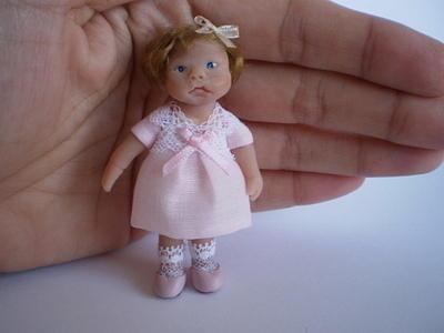 Miniature Sculpture - Doll by Eli Dominguez