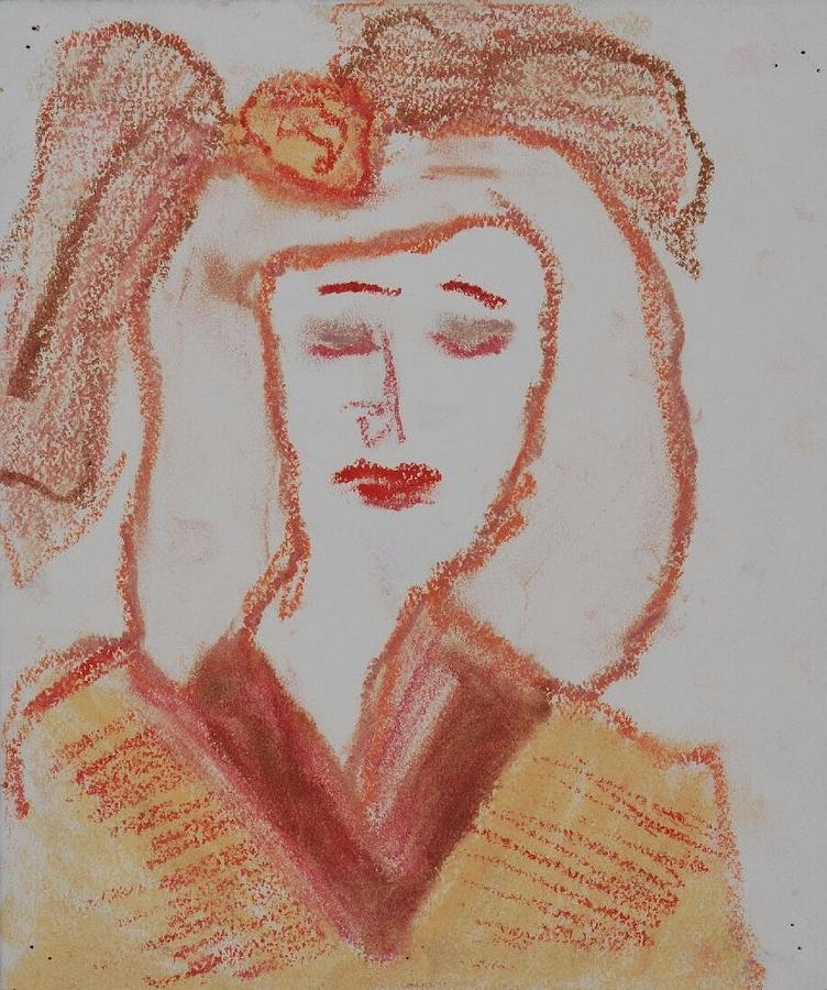 Lipstick Drawing - Doll by Iris Gill