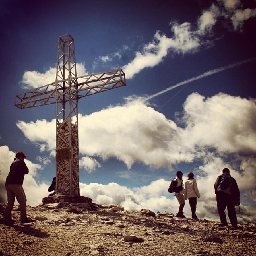 Cross Photograph - Dolomites by Luisa Azzolini