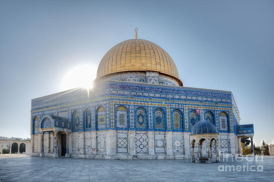 Ancient Photograph - Dome Of The Rock by Noam Armonn