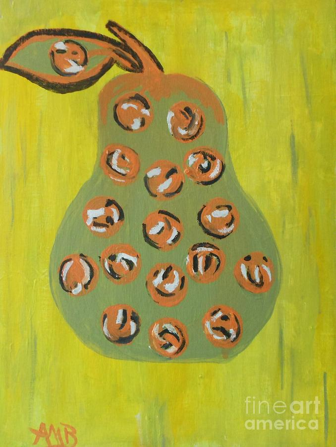 Abstract Painting - Dont Eat The Pear by Marie Bulger
