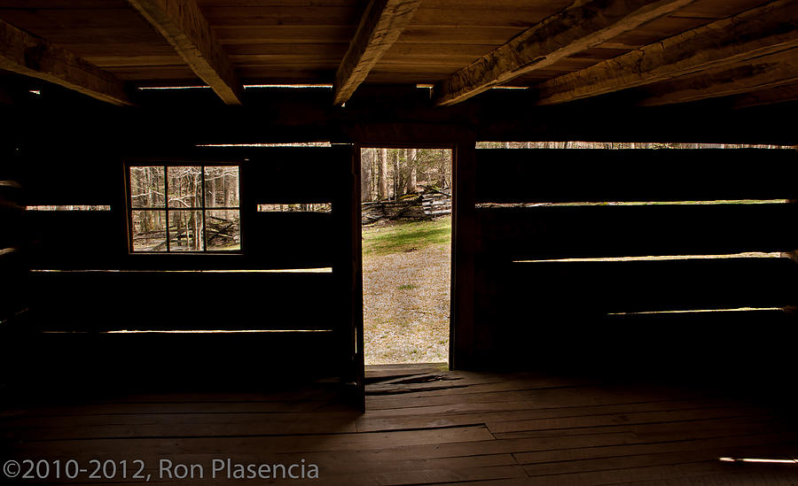 Log Cabin Photograph - Doorway To The Past by Ron Plasencia
