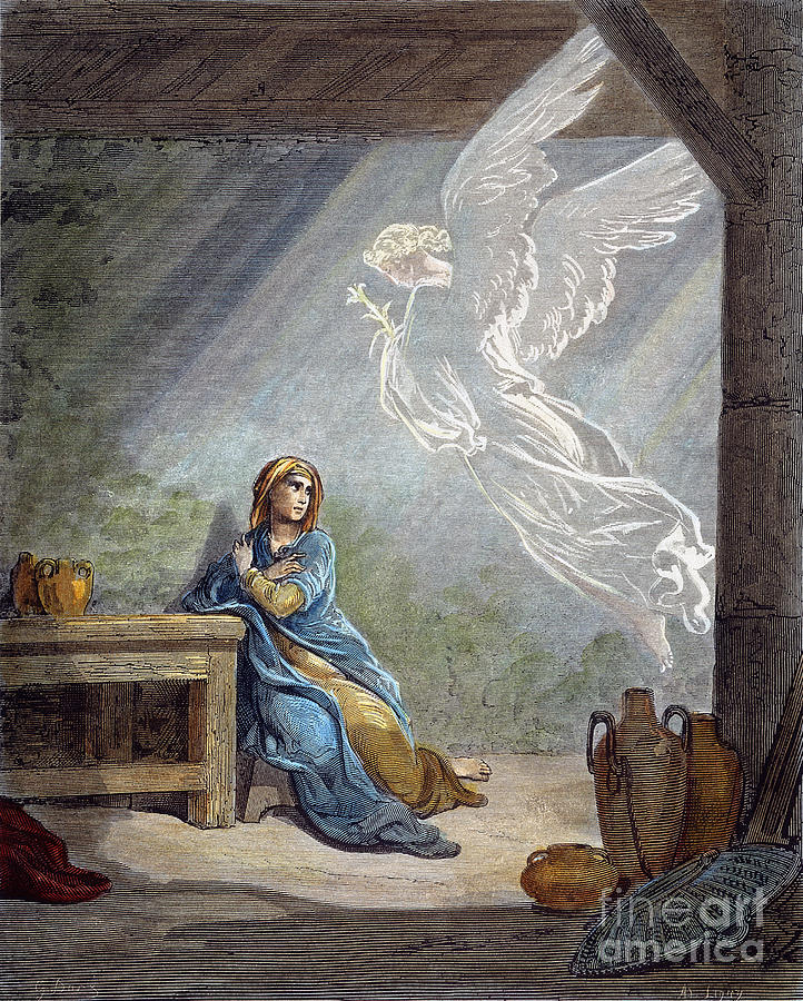 19th Century Photograph - Dor�: The Annunciation by Granger
