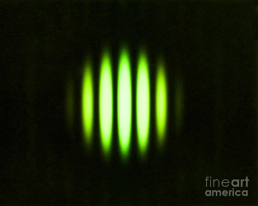 Double Slit Diffraction Pattern Photograph By Omikron