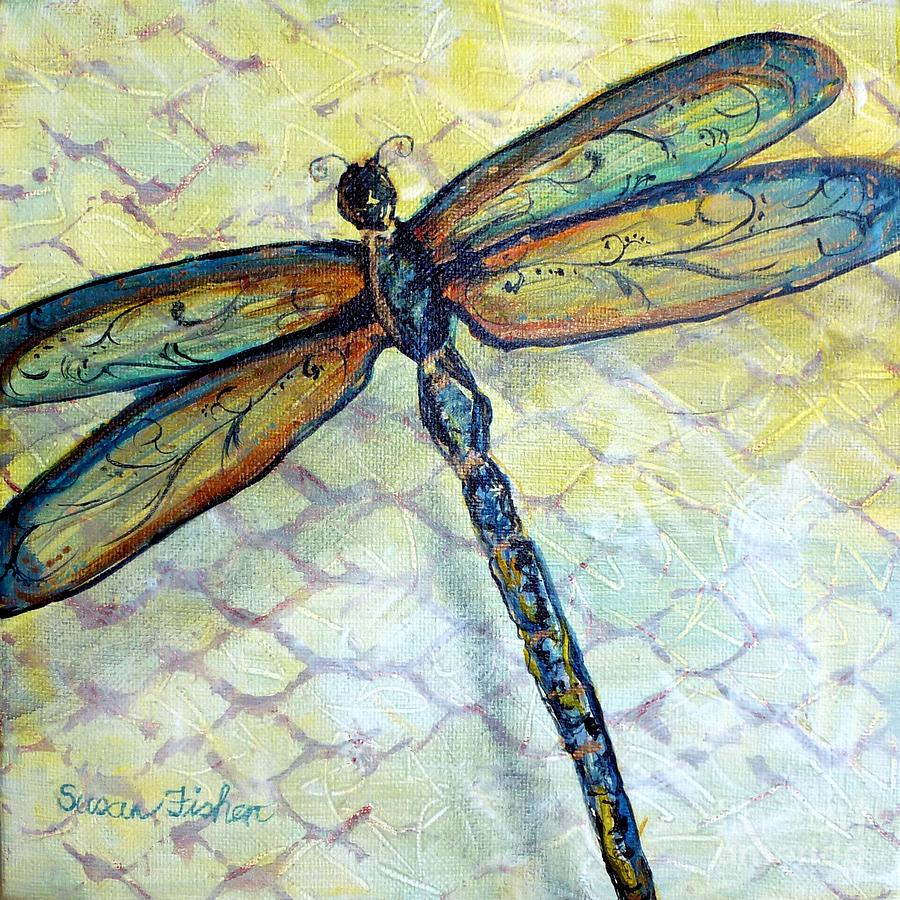 Dragonfly Dancer Painting By Susan Fisher