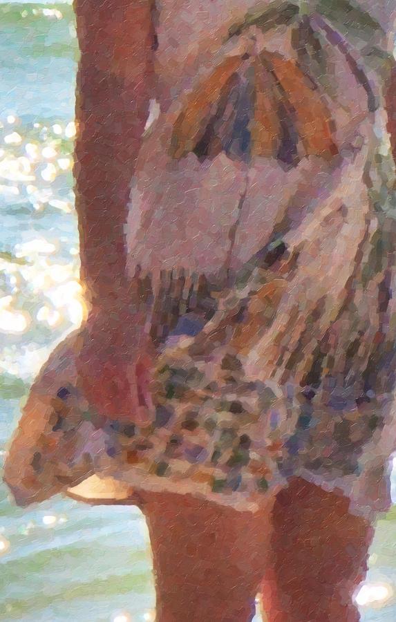 Ocean Digital Art - Dress Code by Betsy Knapp