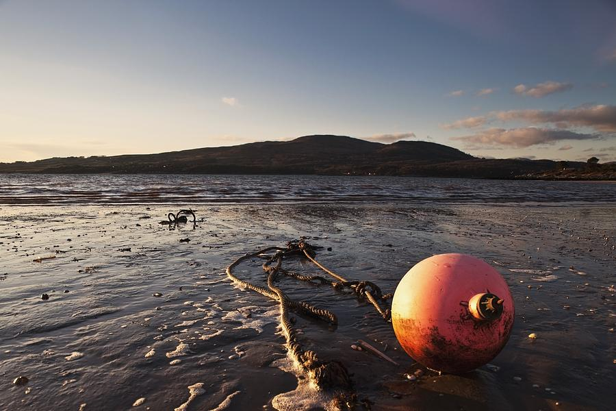 Buoy Photograph - Dumfries, Scotland A Rope Tied To A by John Short