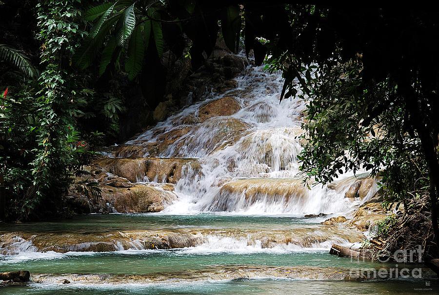 Waterfall Photograph - dunn falls II by Hannes Cmarits
