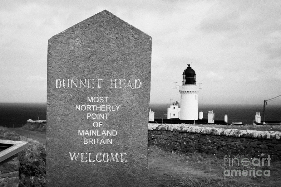 Dunnet Photograph - Dunnet Head Most Northerly Point Of Mainland Britain Scotland Uk by Joe Fox