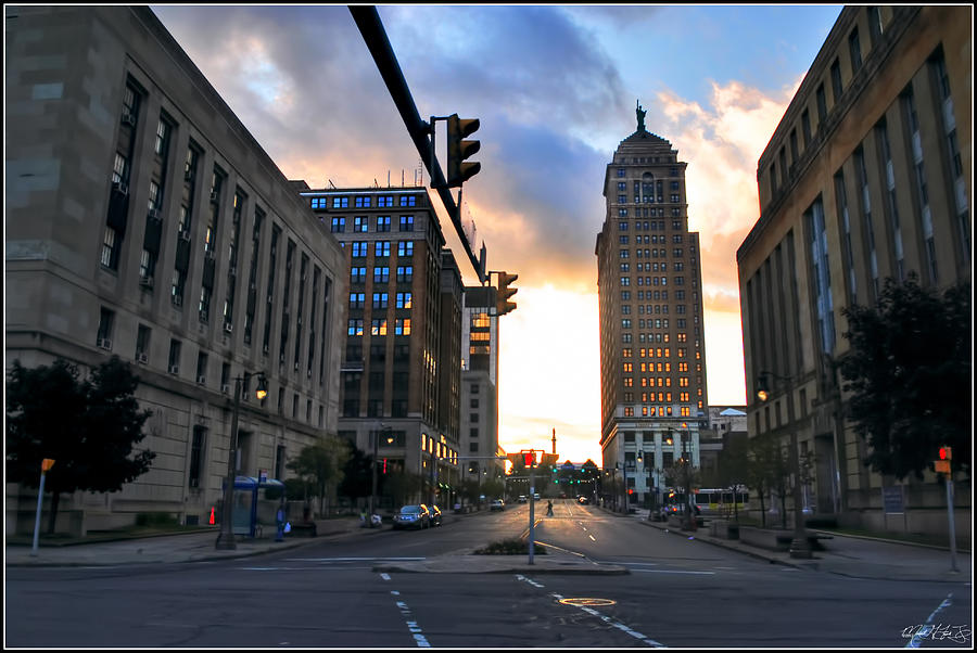 Early Morning Court Street Photograph by Michael Frank Jr