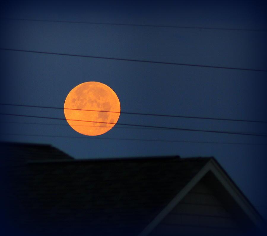 Walton Kentucky Photograph - Early Morning Full Moon Over Walton Kentucky by Maureen  McDonald
