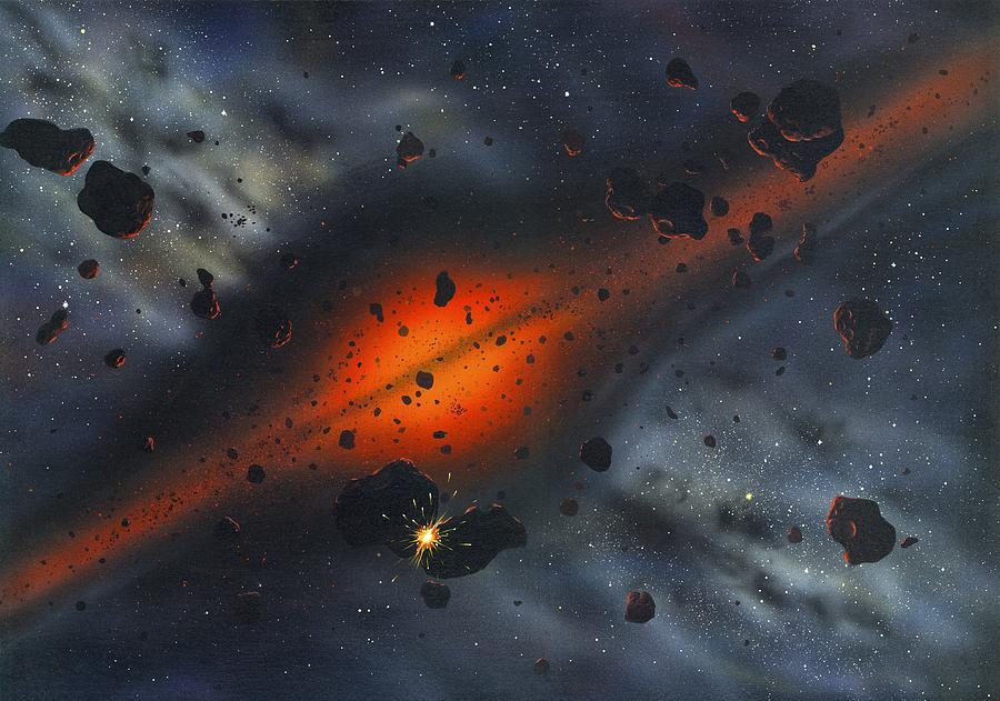 Sun Photograph - Early Solar System, Artwork by Richard Bizley