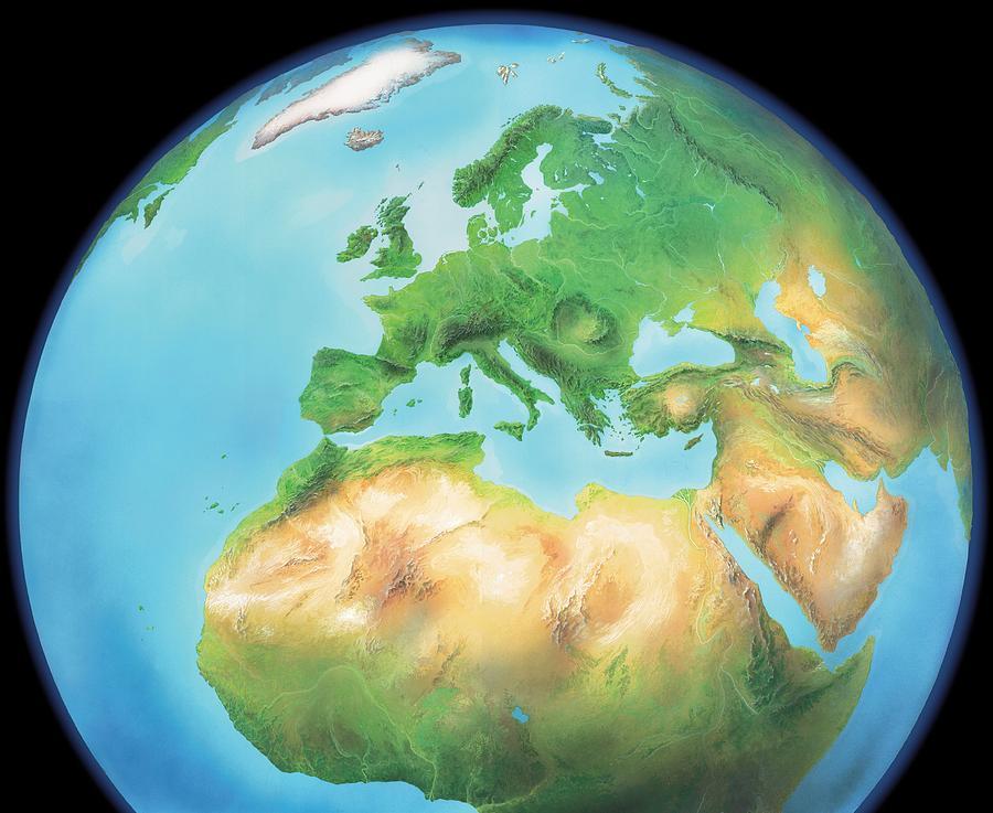 Earth Photograph - Earth, Artwork by Gary Hincks