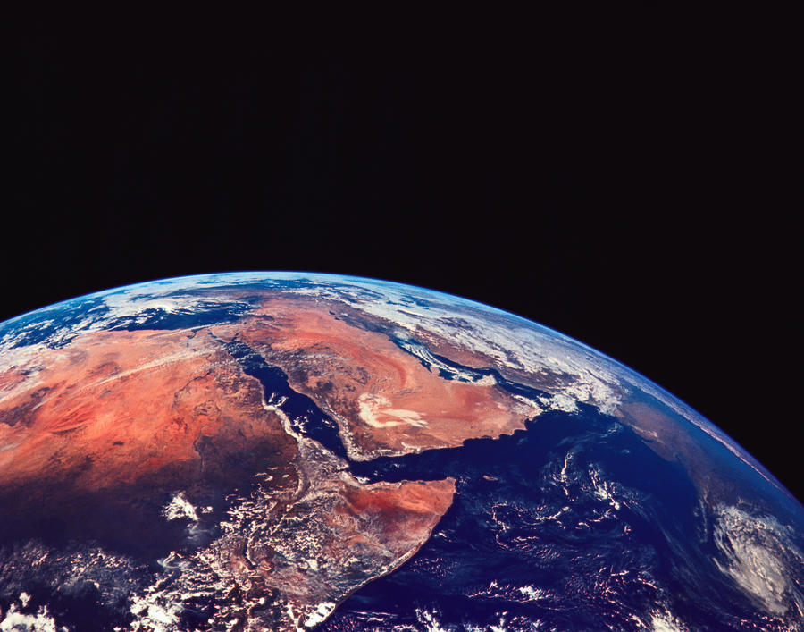 Earth Viewed From A Satellite Photograph By Stockbyte - World from satellite