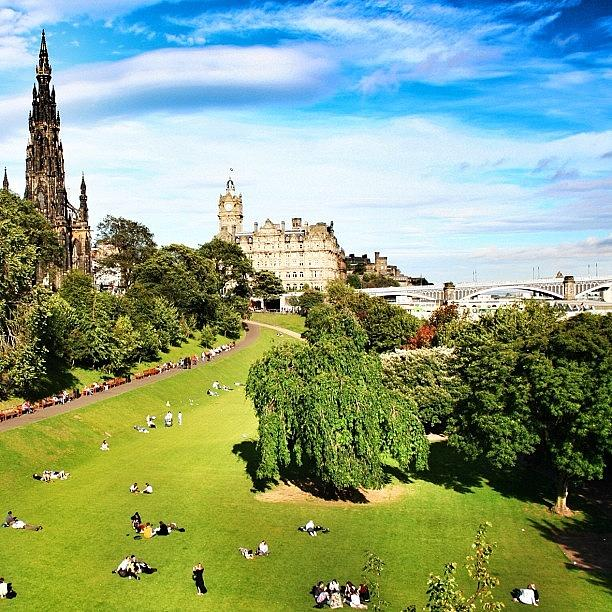 Outdoor Photograph - Edinburgh - Scotland by Luisa Azzolini