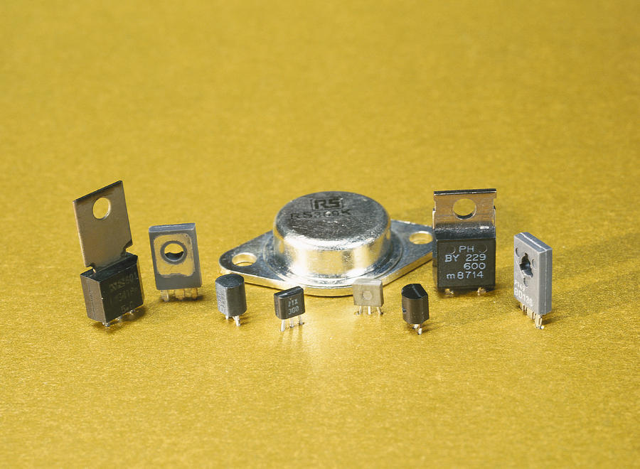 Component Photograph - Electronic Circuit Board Components by Andrew Lambert Photography