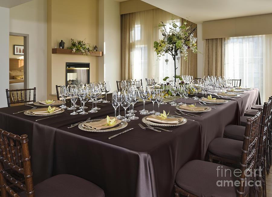 Beautiful Photograph   Elegant Dining Setting By Robert Pisano