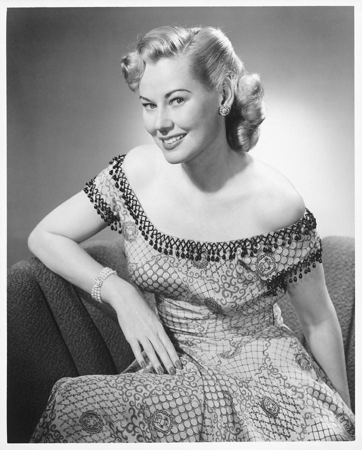 Adult Photograph - Elegant Woman Posing In Studio, (b&w), Portrait by George Marks