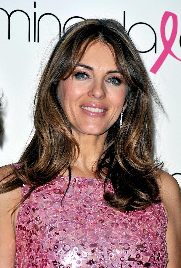 Elizabeth Hurley Photograph - Elizabeth Hurley At A Public Appearance by Everett