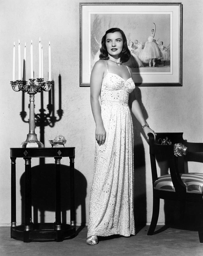 Candelabra Photograph - Ella Raines, 1946 by Everett
