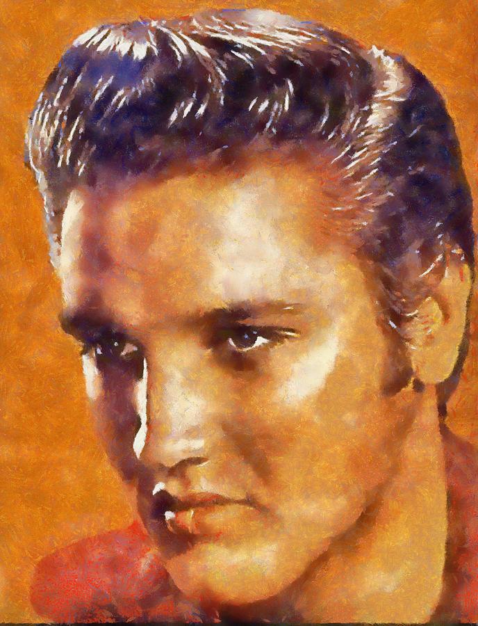 Elvis Digital Art - Elvis Presley by Galeria Trompiz