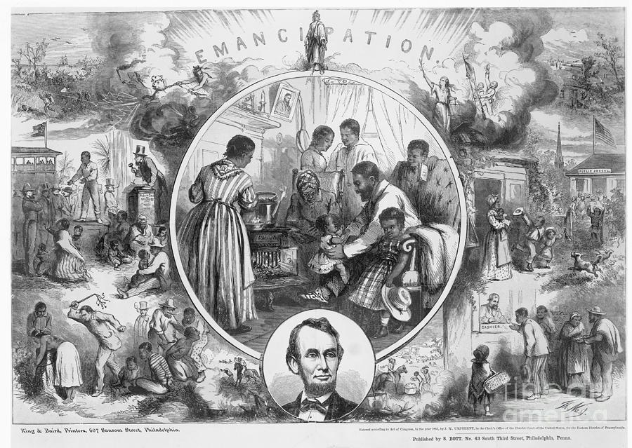 1865 Photograph - Emancipation Proclamation by Granger