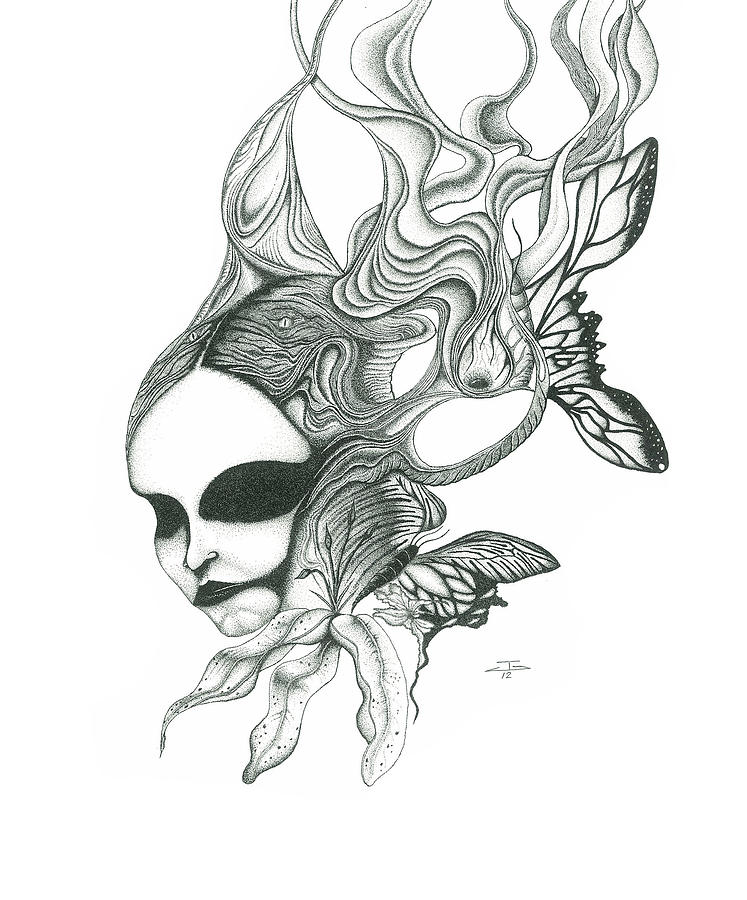 End Of The Dream Drawing by Jeff Gould